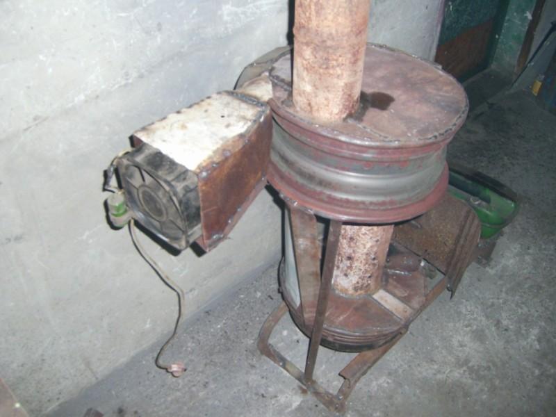 Печь в гараж на отработанном масле своими