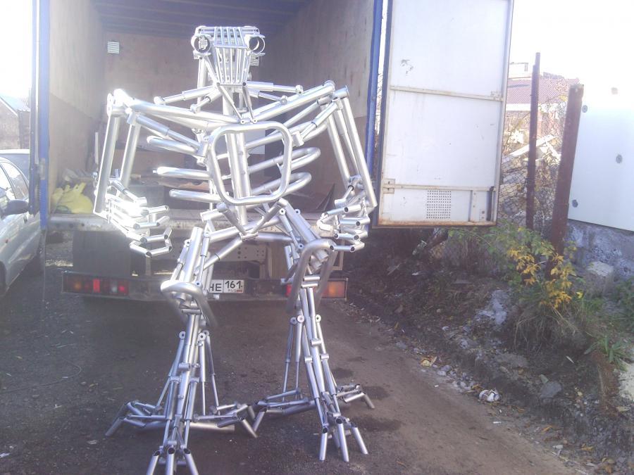 Робот из труб пвх своими руками фото 91