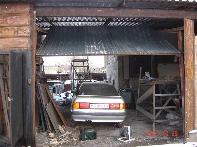Гаражные ворота на гараж своими руками