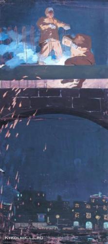 1959-60 годы Попков Виктор Ефимович (Россия, 1932 -1974) «Сварщики».jpg