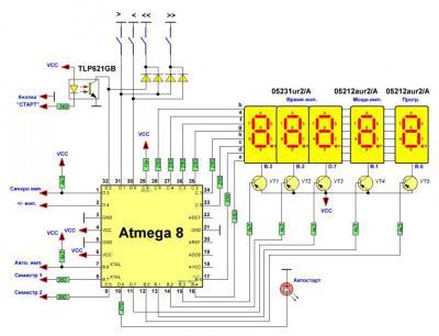 Микроконтроллерный таймер для споттера своими руками 50