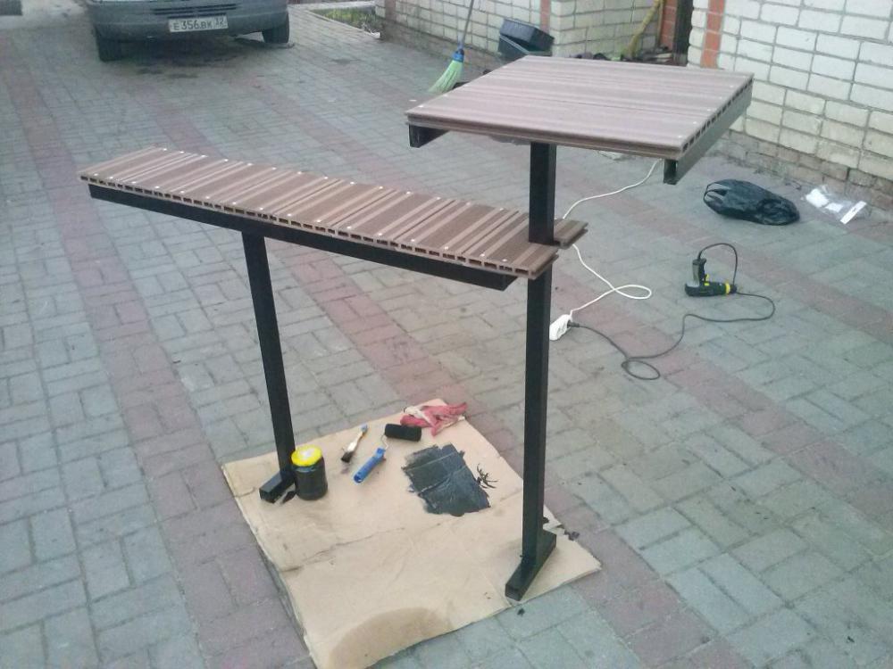 Сделать столик для кладбища