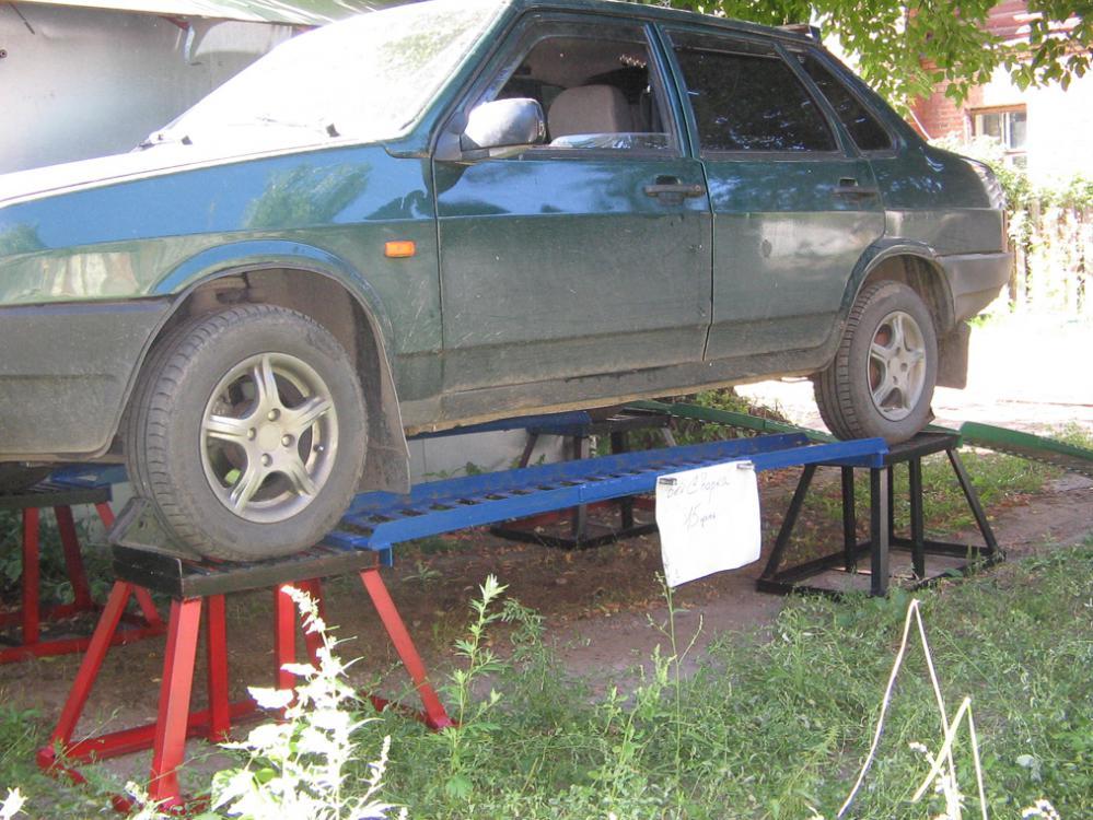 Сделать эстакаду для ремонта авто своими руками