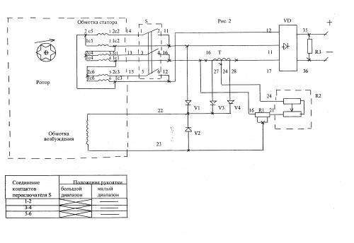 Электросхема генератора
