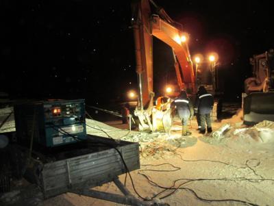 Двухпостовой дизельный сварочный агрегат Denyo DСW-480ESW на  нефтегазовом объекте в г.Когалым (декабрь, 2012).jpg