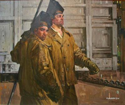 Ротницкий Семён Аронович (Россия, 1915-2004) «Сварщики на Кировском заводе» 1969.jpg