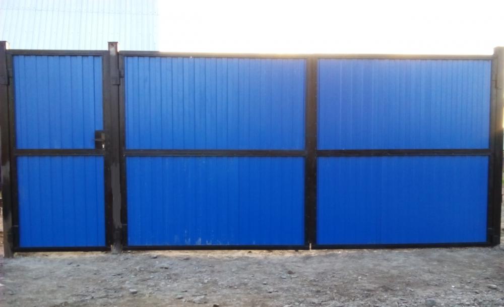 Как сварить откатные ворота на забор из профильной трубы